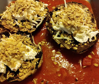 baked portobello mushrooms goat cheese