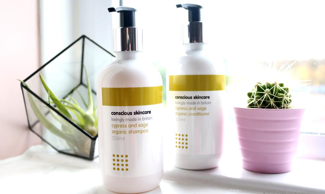 Conscious Skincare Cypress & Sage Organic Shampoo & Conditioner