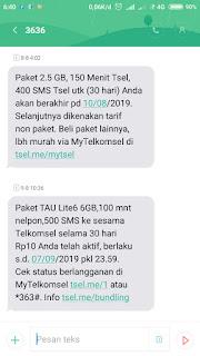 Promo Kouta Telkomsel Rp.10