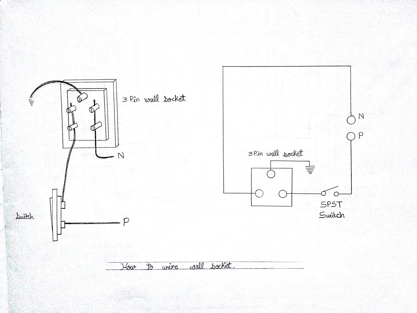 Learn Electrician: Electrical Wiring Diagrams of Switches, Sockets on