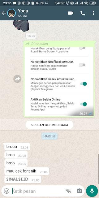 Cara Mengubah Font Whatsapp