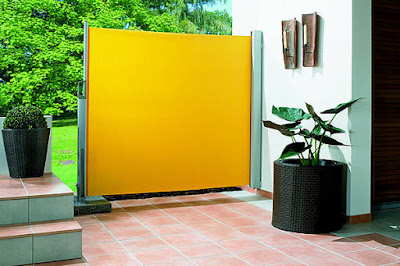 Balkon-Zelt-Seiten ohne Bohren die gelbe Farbe