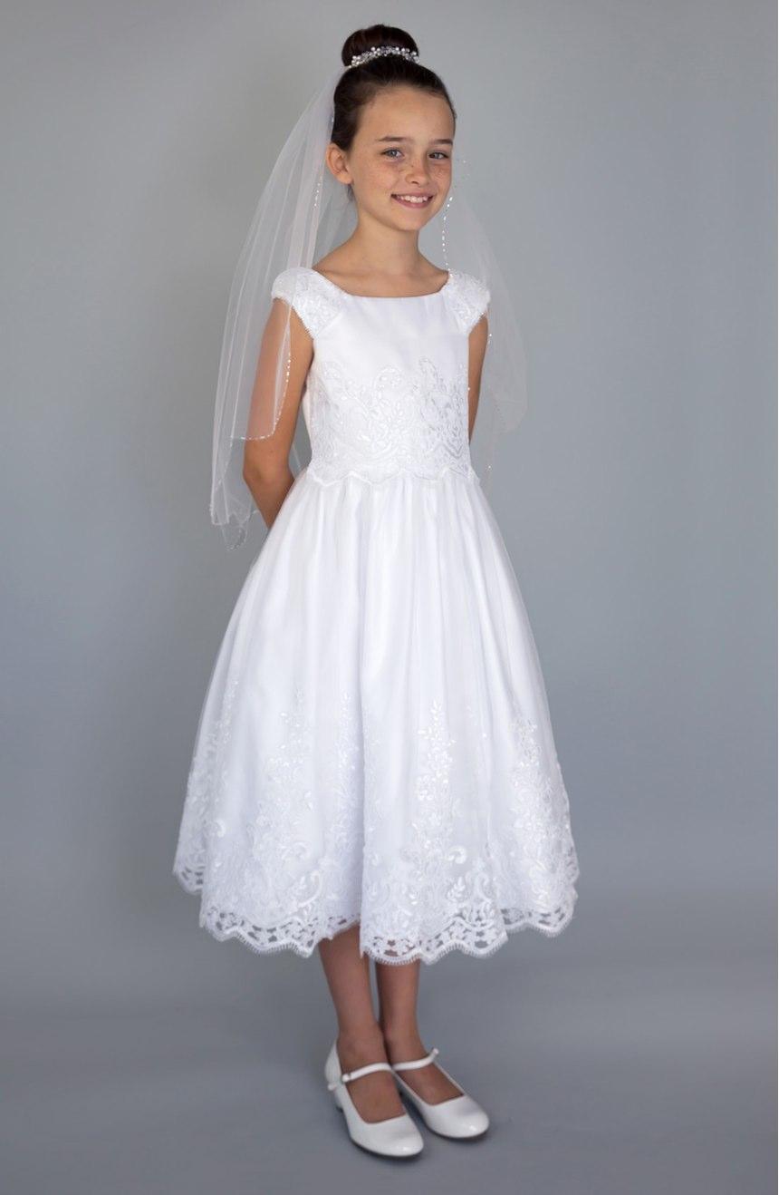 vestidos de primera comunion cortos para nina