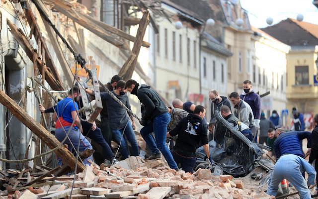 Мощное землетрясение в Хорватии разрушило половину города! Видео