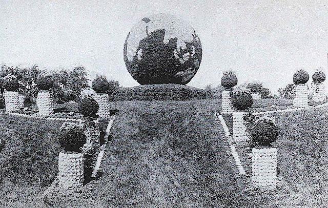 1893 Chicago Worlds Fair garden Earth Globe