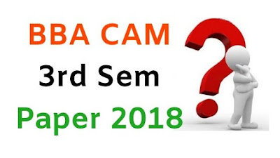 BBA (CAM) 3rd Sem Question Papers 2018 Mdu (Maharshi Dayanad University)