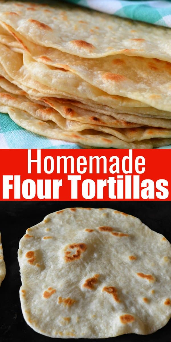Homemade Soft Flour Tortilla made with butter are so delicious and a favorite for your next Mexican food night from Serena Bakes Simply From Scratch.