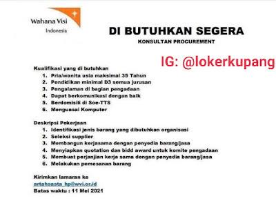 Lowongan Kerja Wahana Visi Indonesia Sebagai Konsultan Procurement