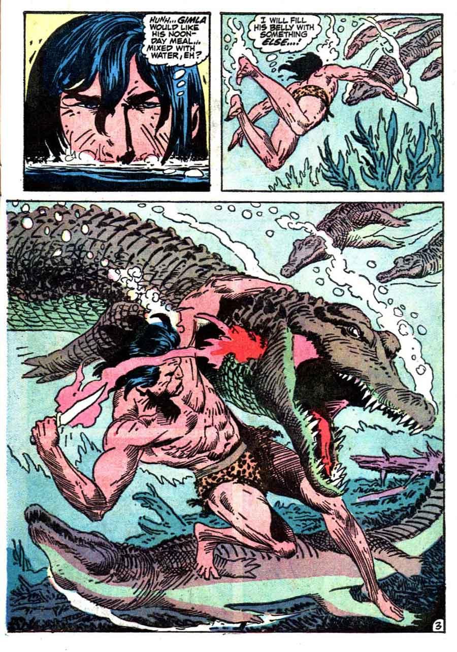 Tarzan v1 #211 dc comic book page art by Joe Kubert