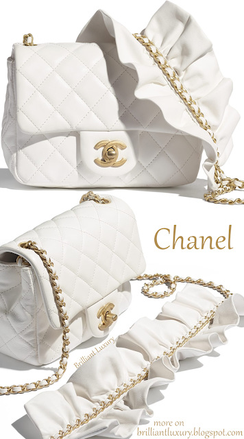 White Chanel flap bag #brilliantluxury