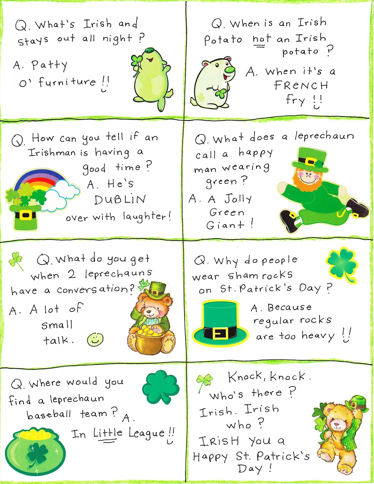 Saint Patrick S Day Irish Jokes Limericks Riddles