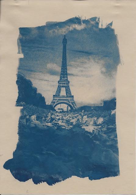 cyanotype tour eiffel