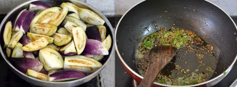 how to make brinjal side dish for biryani