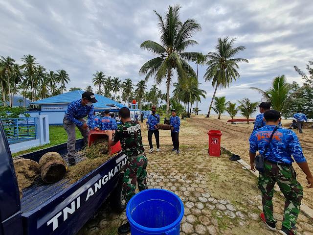 Lanud RSA Lakukan Korve di Areal Pantai Raptor