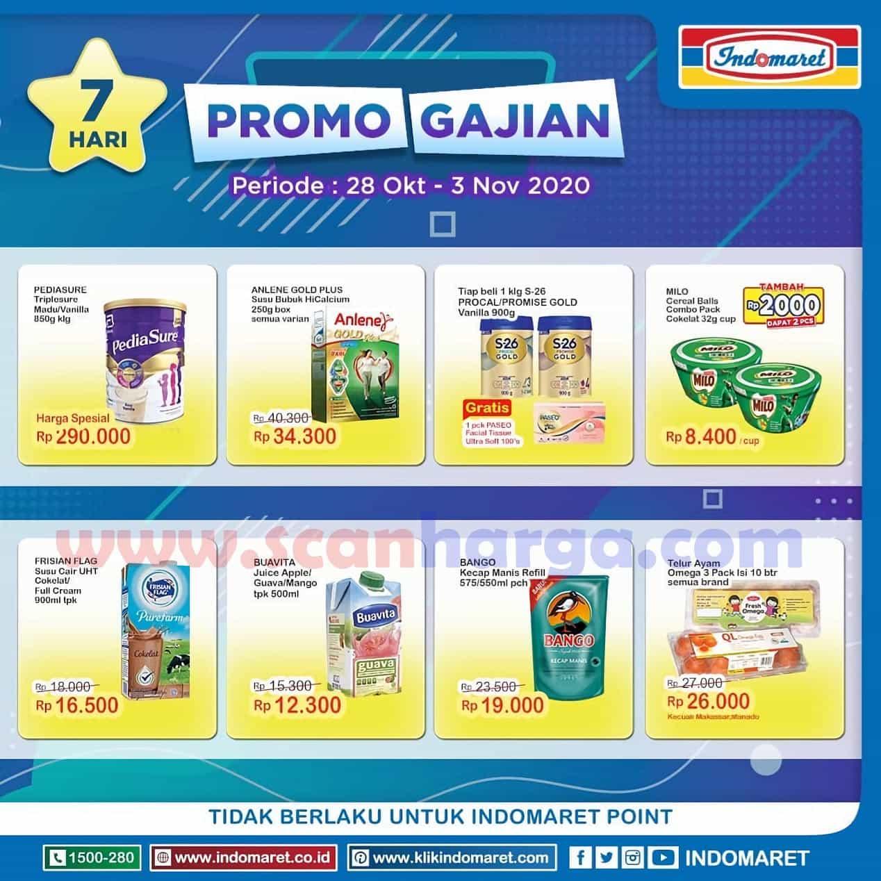 JSM INDOMARET GAJIAN Promo Tebus Murah Periode 28 Oktober - 1 November 2020 2