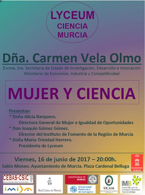 """Conferencia: """"mujer y ciencia""""."""