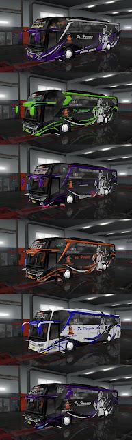 30 Livery Po Haryanto Mod Jetbus 3+ HDD Adudu edit Diny