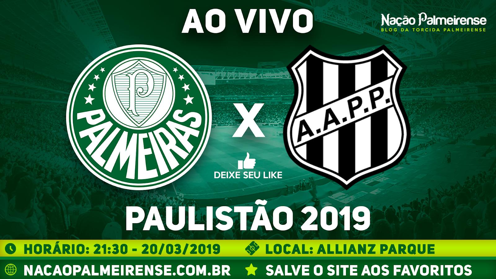 Assistir Palmeiras x Ponte Preta Ao Vivo