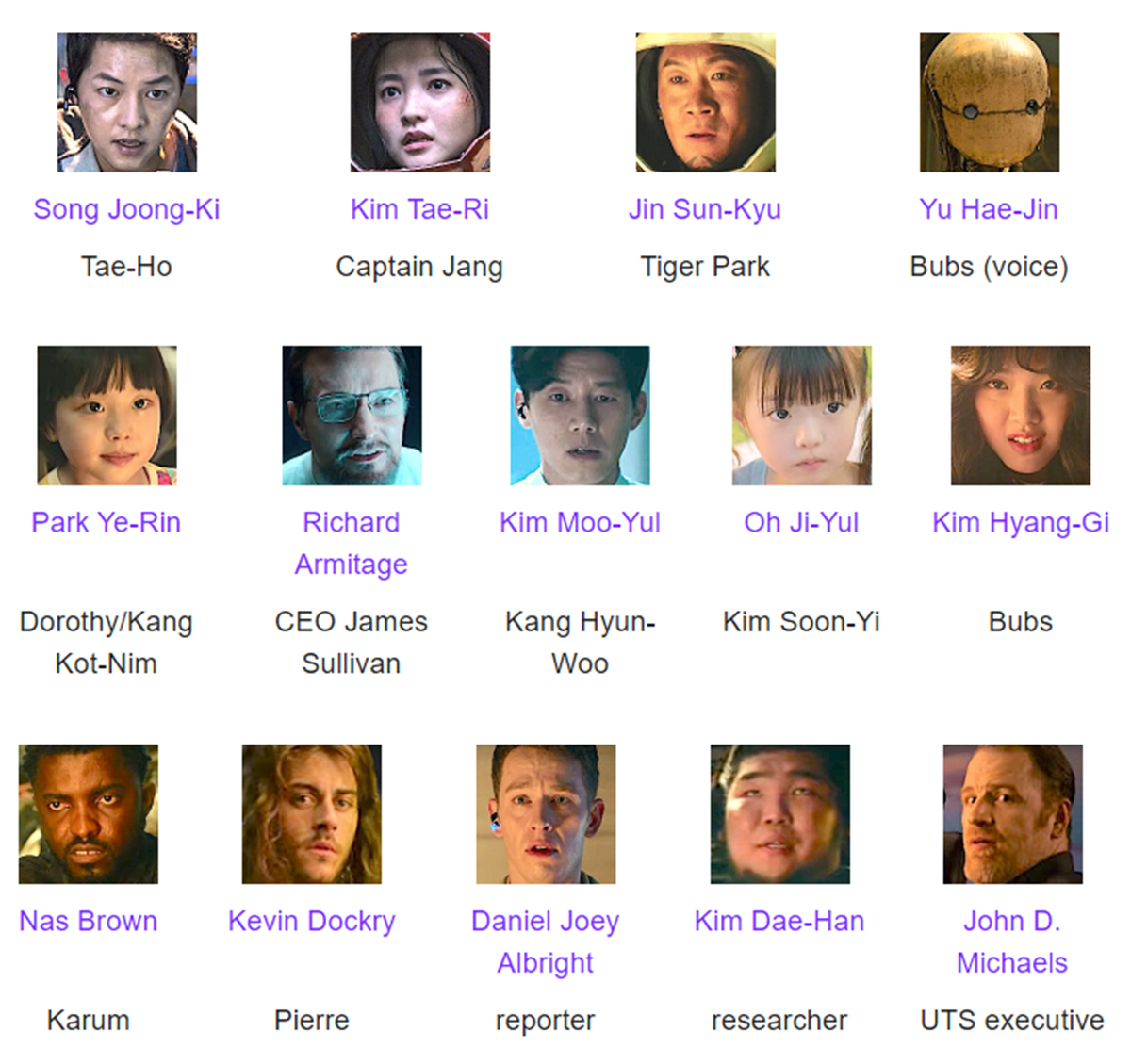 Space Sweepers Cast