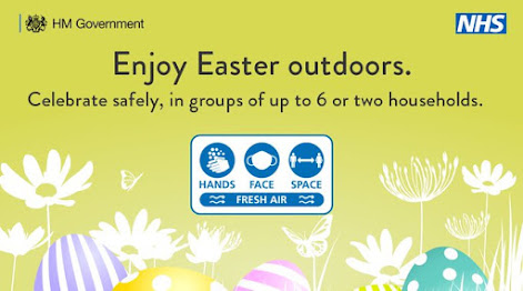 Enjoy Easter outdoors - image of Spring flowers peeping bottom of the screen