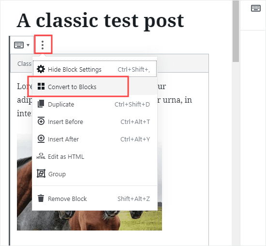 Changing over an individual post to another square arrangement