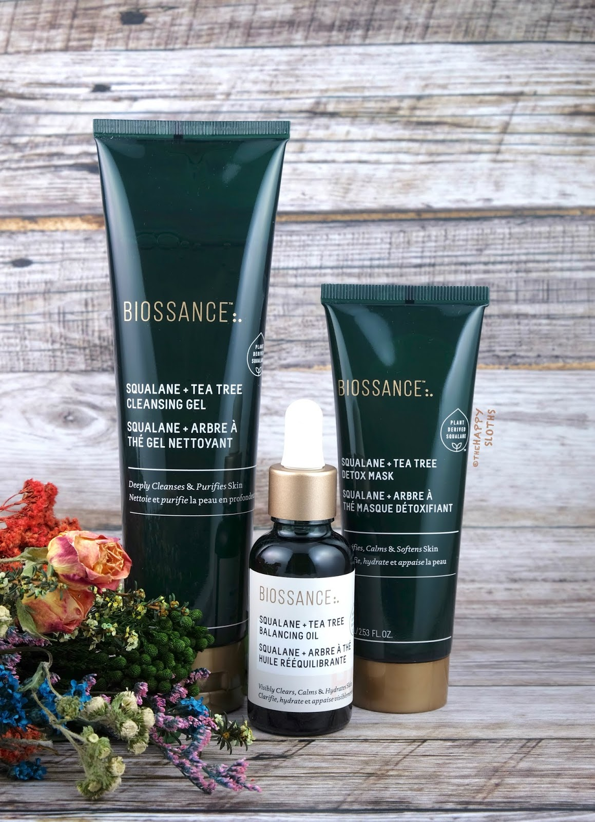 Biossance | Squalane + Tea Tree Cleansing Gel, Detox Mask & Balancing Oil: Review