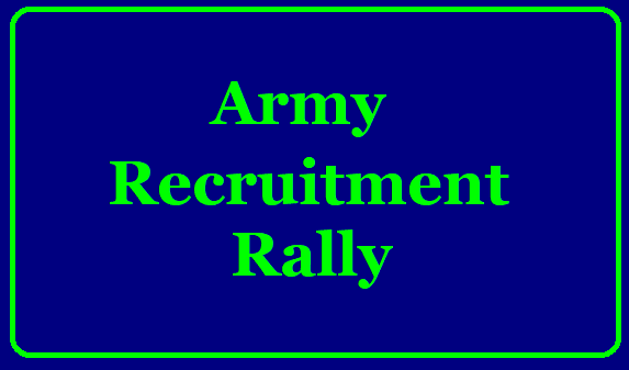 Army Recruitment Rally - Secunderabad ఆర్మీ రిక్రూట్‌మెంట్‌ ర్యాలీ/2019/09/Army-recruitment-rally-secunderabad-apply-online-www.joinindianarmy.nic.in.html