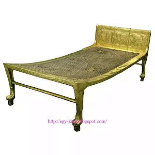 Gilded wooden bed of Tutankhamun