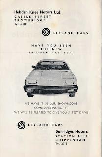 Hebden Knee Motors Ltd, advert from 30 May 1976