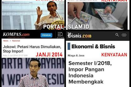 Janji Gak Utang Gak Impor Tapi Kenyatan Utang Impor Meroket, Jokowi Dituding Pembohong Besar