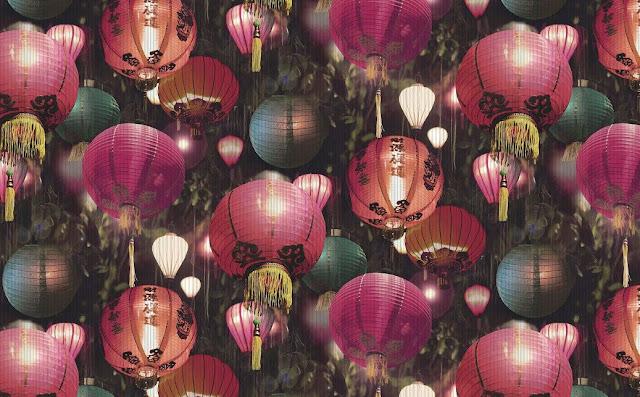 tian wallpaper - chinese floating lanterns