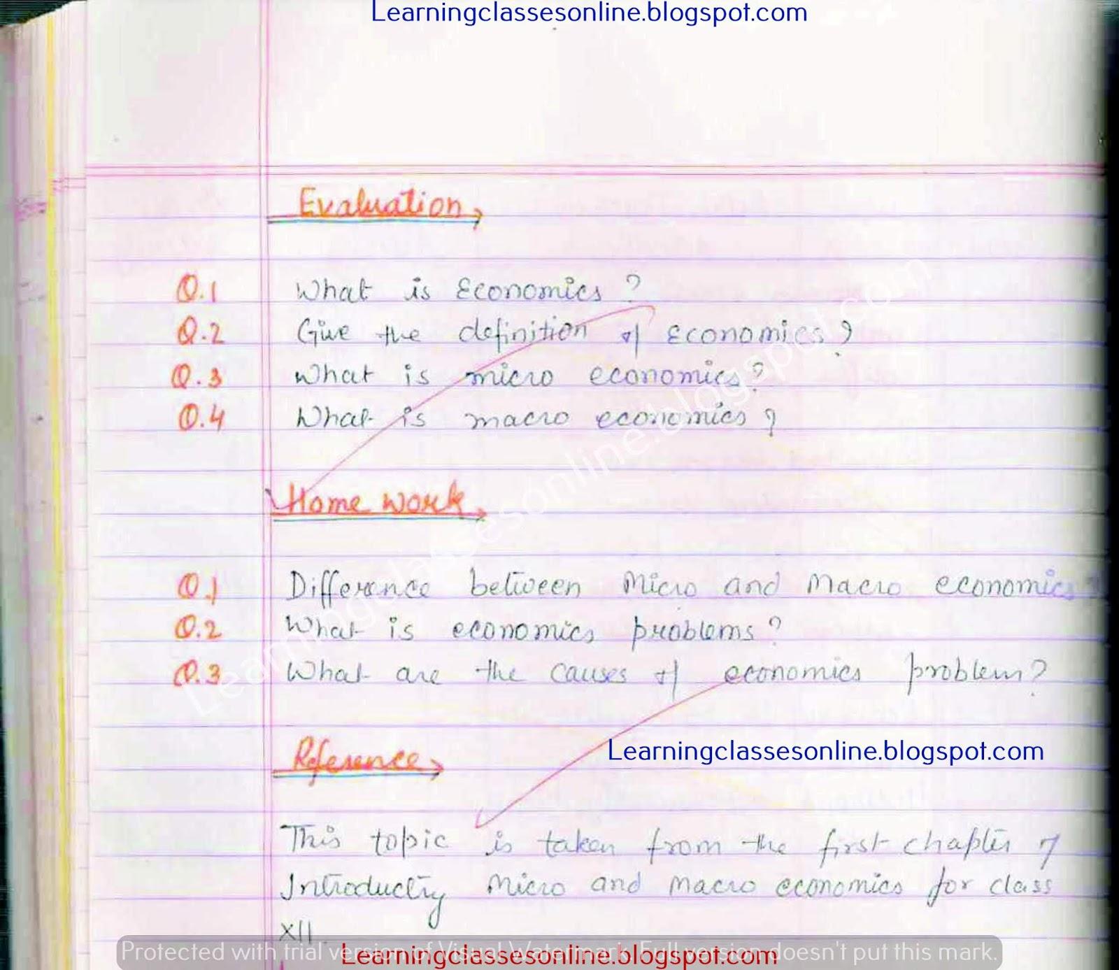 economics lesson plans, lesson plan for economics for b ed, lesson plan for economics for teachers,