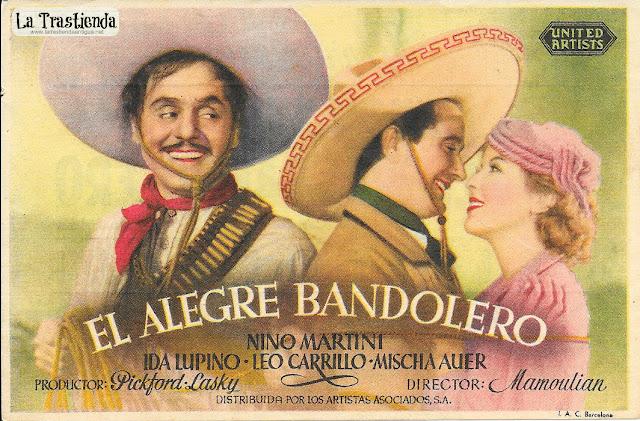 El Alegre Bandolero - Programa de Cine - Nino Martini - Ida Lupino