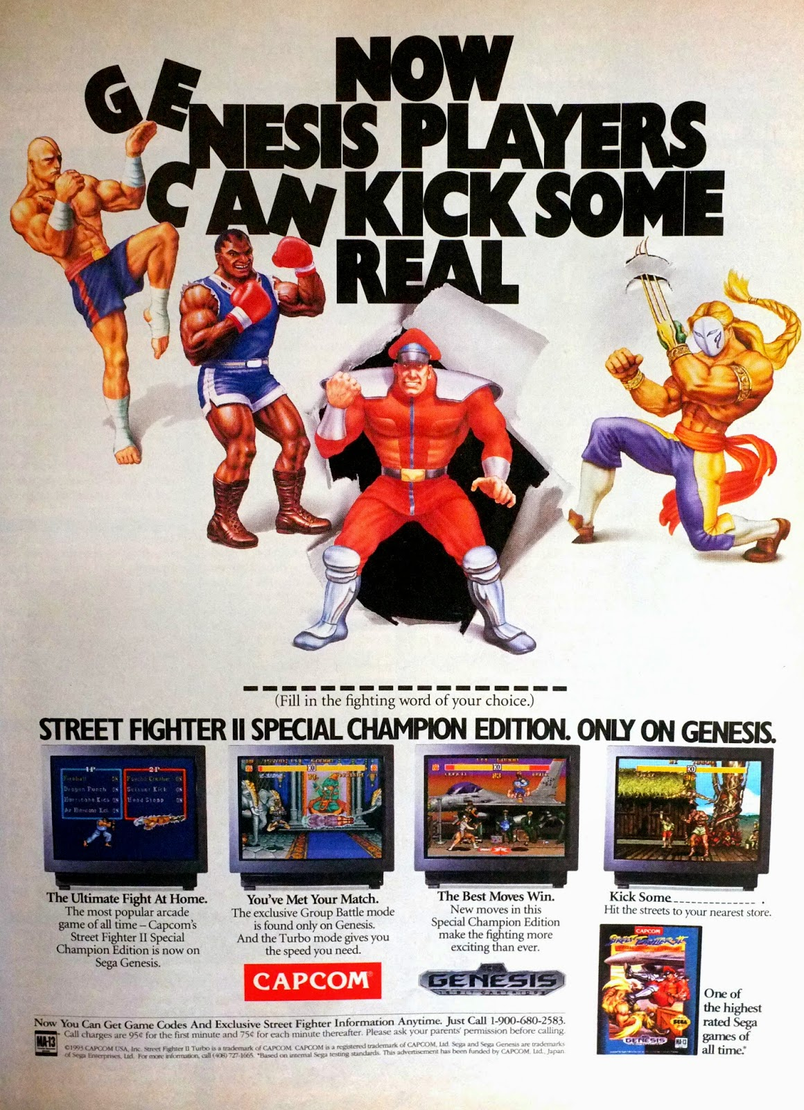 Street Fighter II Special Champion Edition for Genesis advertisement