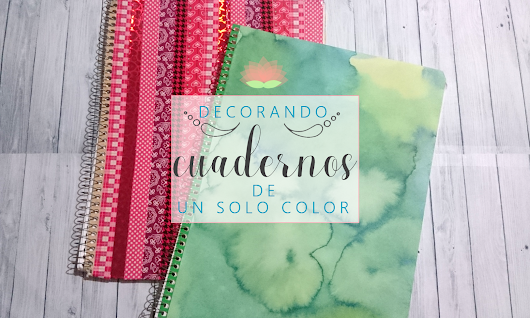 The White Curl: Decorar Cuadernos de un solo color
