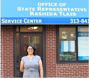 Rashida Tlaib Filistinli müslüman göçmen bir ailenin kızı. Michigan Eyaleti Detroit doğumlu