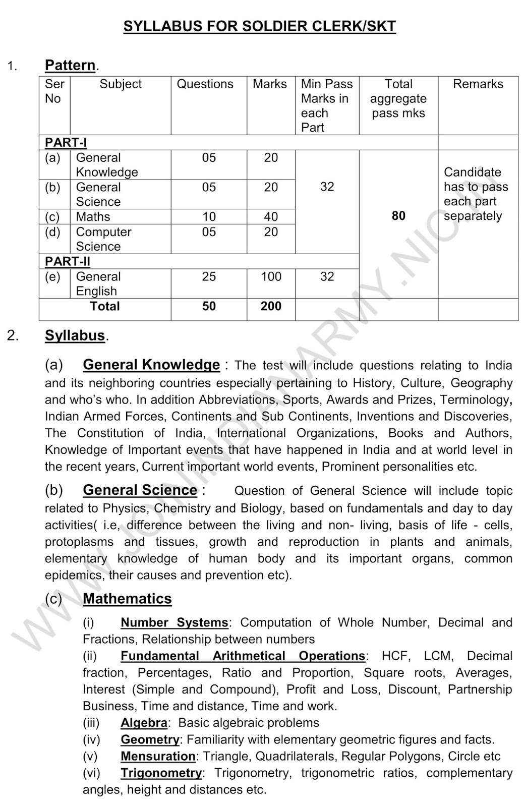 army clerk syllabus 2019 pdf download in hindi