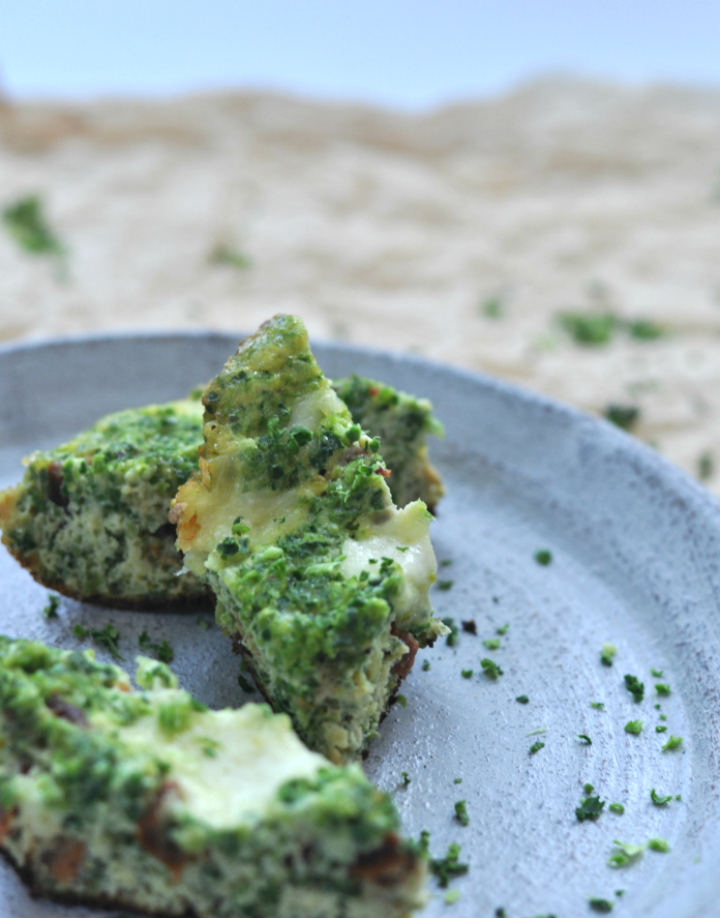 Italian Frittata with Savoy - an Italien classic turned green