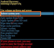 Recovery mode Samsung
