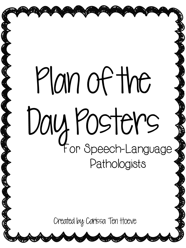 Plan of the Day Posters {freebie}
