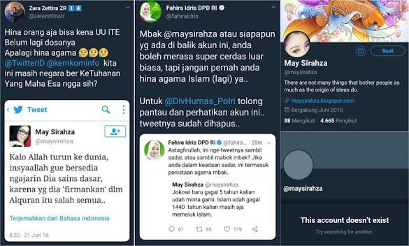 Hina Islam, Akun Pendukung Jokowi Menghilang Setelah Dikecam Warganet