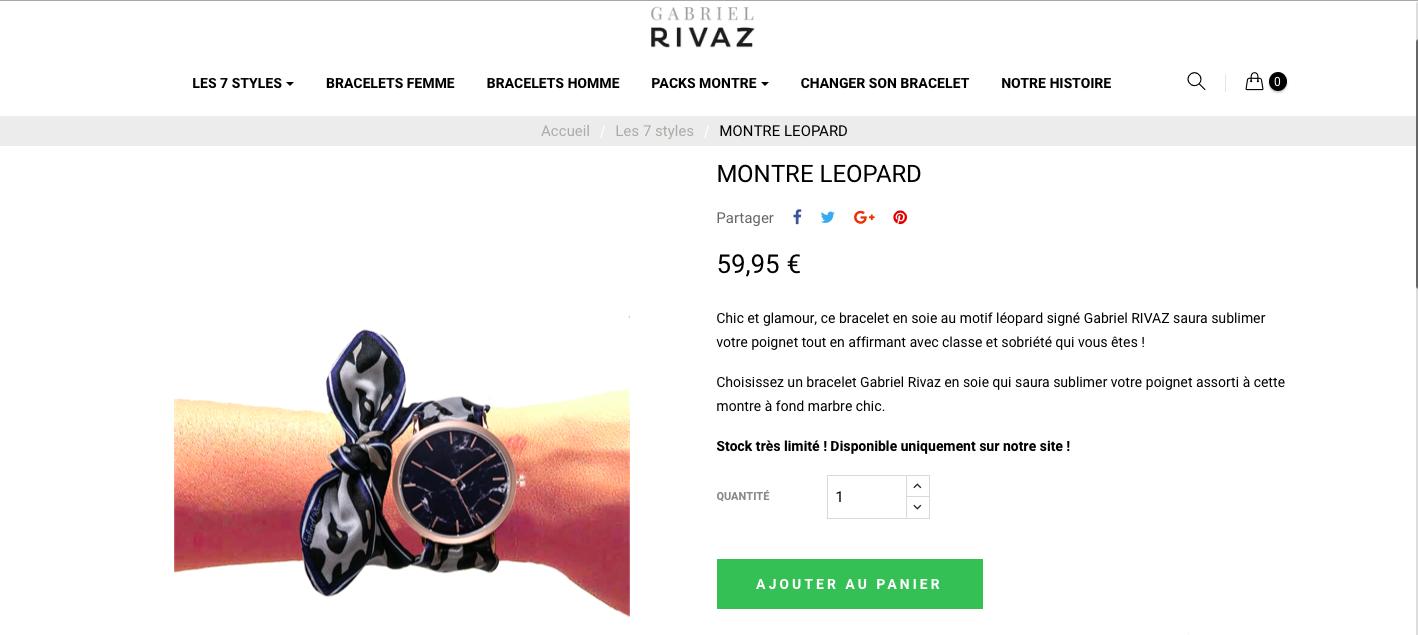 Montre bracelet foulard de Gabriel Rivaz