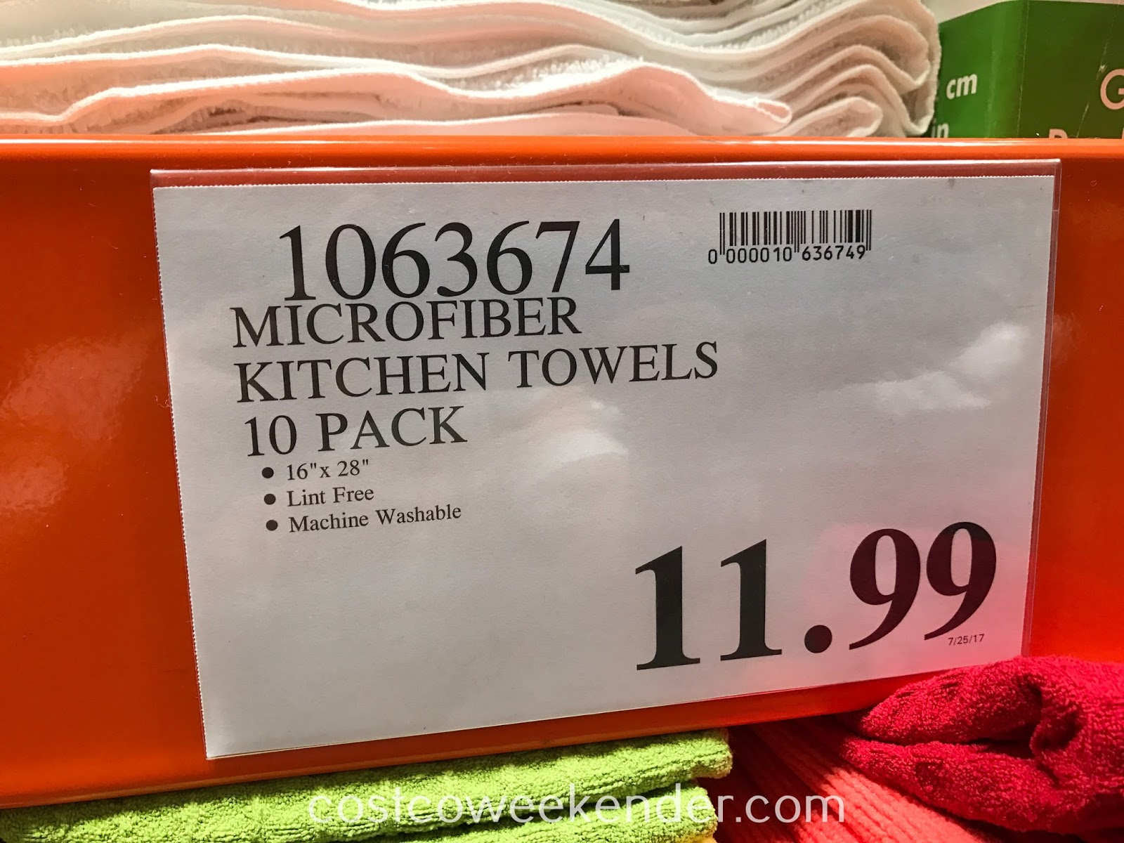 Deal for a 10 pack of Town and Country Living Microfiber Kitchen Towels at Costco