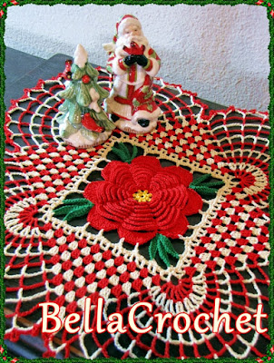 Bella Crochet Thread Crochet Pattern - Country Christmas Doily