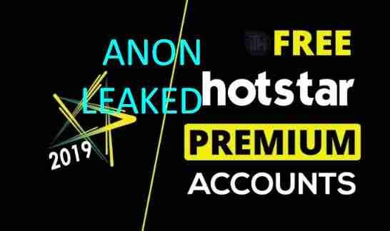 Combo List Accounts Hotstar Premium Free by AnonLeaked
