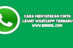 Cara Menyatakan Cinta Lewat Whatsapp
