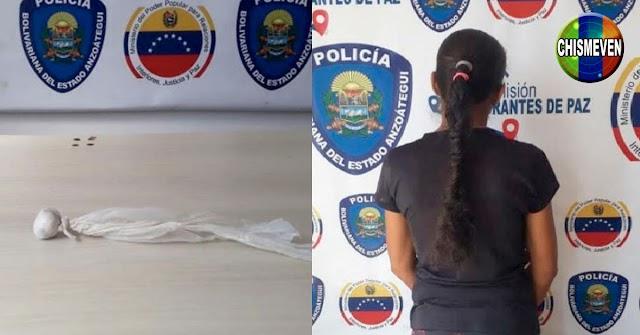Detenida con semillas de marihuana escondidas en su Totona en Anzoátegui