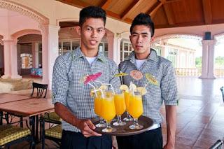 reception, refreshments, waiter, service, hospitality, Mountain Lake Restort, Caliraya Springs, Laguna