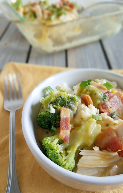 Add chicken, cheese, bacon and broccoli on top of cauliflower mash for this delicious meal that is grain-free, gluten-free, low-carb and ketogenic!