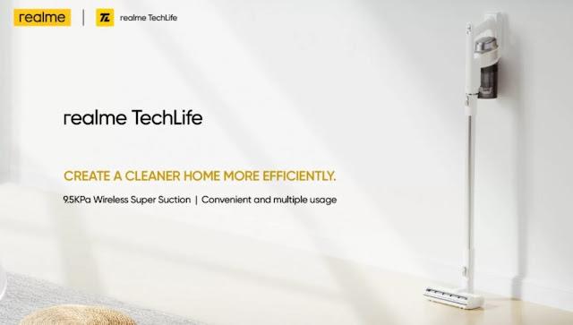 إطلاق Realme TechLife لتنقية الهواء والمكانس الكهربائية في 30 سبتمبر في الهند